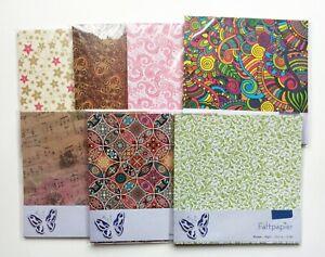 5 Sets Faltpapier Bascetta-Stern 15x15 cm Origami Papier -- freie Musterwahl --