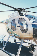 Law Enforcement HELICOPTER MD-500 Series Vintage Found Photo  FREE SHIPPING 7218
