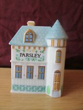 1989 Lenox Spice Village Parsley Jar Porcelain House