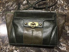 Gently Used Womens Pre-Owned Frye Dana Clutch Green with Dust Bag/Hang Tag