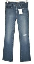 Levis 315 SHAPING BOOTCUT Dark Blue Mid Rise Ripped Stretch Jeans 10 W29 L32