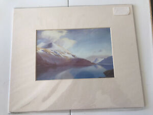 W. Heaton Cooper Print: WINTER EVENING THIRLMERE AND HELVELLYN