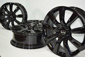 "22 Infiniti QX56 QX80 2011-2018 22"" Black RAYS Factory OEM Wheels Rims"