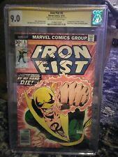 IRON FIST 8 Marvel  1976  bronze age CGC 9.0 signed Claremont