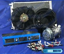 A/C-KIT UNIVERSAL UNDER DASH EVAPORATOR 450 BLUE BIG SIZE CARS & ELECTRIC HARNE
