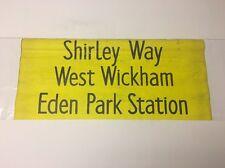 "Croydon 5.62 Bus Blind 27""- Shirley Way West Wickham Eden Park Station"