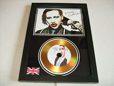 marilyn manson  SIGNED  GOLD CD  DISC 06