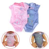 Vêtements de poupée pour 43cmZapf Baby Born Doll Combi costume accessoires IU