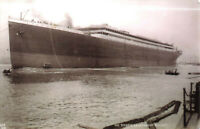 Real Photo Postcard - The Titanic Launched At Belfast - N.Ireland Unposted.