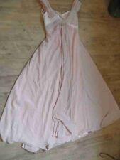 EDRESSIT wunderschönes langes Abendkleid rosa Pailletten Nude Gr. 38 TOP  KSA417