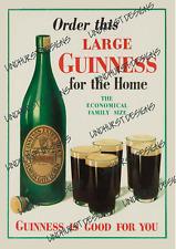 More details for guinness metal advertising sign plaque beer garden bar irish stout pub garage