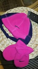 New Adorable Nike Infant Girls Winter Hat And Mittens Set Pink Size infant Nwt!