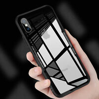 Ultra Thin Tempered Glass Back TPU Bumper Mirror Case Cover For iPhone 8 Plus X