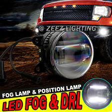 High Power LED Fog Lamp Projector Driving w/ DRL Daytime Running Light Cars SUVs