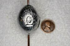 6 oz Egg / Slip Fishing Lead Weights - 14 Sinkers - Free Shipping
