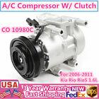 A/C Compressor & Clutch Fits 2006-2011 Kia Rio5 & Rio EX/LX Sedan L4 1.6L 97371