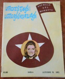 1971 NOTITAS MUSICALES magazine SHEILA yeye GIRL music B DEVOTION SANDRO 70s WOW