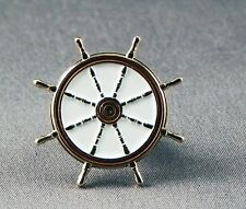 Metal Enamel Pin Badge Brooch Ships Wheel Gold Boat Sailor Captain