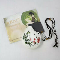 Porcelain Chinese Ocarina Instrument With Booklet Floral White Music Student