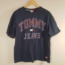 """TOMMY HILFIGER Jeans T-Shirt Sz M 40"""" Chest Blue Cotton Casual Designer Mens"""