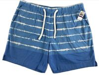 """NWT IZOD Saltwater Relaxed Classics Stretch Blue Men's Shorts Size 2XL,7"""" Inseam"""