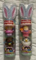 Fisher Price Little People Figures L5782 L5783 Easter 2006 Limited Edition New