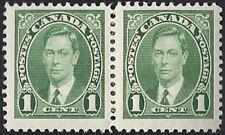 Canada    # 231 Pair    King George VI Issue   New Issue 1937 Pristine Gum