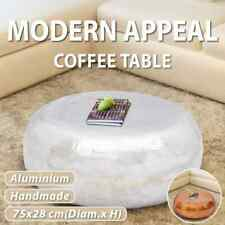 vidaXL Hammered Coffee Table Aluminium Tea Living Room Couch Silver/Brass