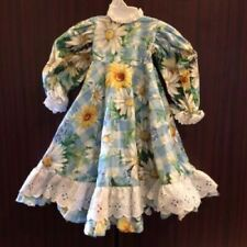 Gorgeous Flower Doll Dress With Matching Apron