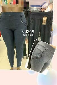 Women elastic summer check design high Waist plus size ladies cotton Trousers...