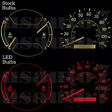 Dash Cluster Gauge RED LEDs LIGHT BULB KIT Fits 98-02 Toyota Corolla Chevy Prizm