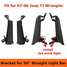 1997-2006 Jeep Wrangler TJ Mount Bracket Fit For 50inch LED Light Bar A Pillar