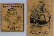 Christmas Prim Labels Set of 14 Jelly Cupboard Pantry Labels