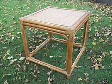 Beistelltisch, Couchtisch, aus Holz und Rattan, 55cm x 55cm x 56cm