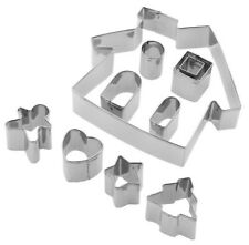 Tala 10pc Gingerbread House Cookie Cutter Set Stainless Steel Man Biscuit Icing