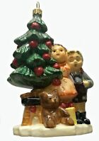 M.I. Hummel Wonder of Christmas Polish Glass Christmas Tree Ornament Poland