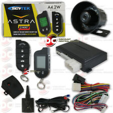 SCYTEK ASTRA A4.2W CAR ALARM SYSTEM WITH ENGINE REMOTE START LCD 2-WAY REMOTE