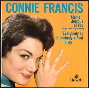 CONNIE FRANCIS - Mama - 1960 France EP 45 tours