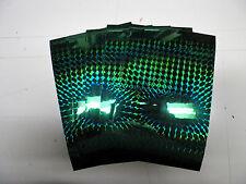 "vinyl self adhesive emerald green prism 4"" x 6"" x 3 mil(5) sheets"