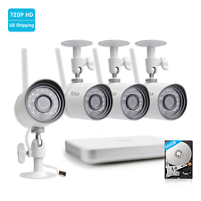 Funlux HDMI 8CH WiF NVR 4 720p Wireless Home Video Security Cameras System 500GB