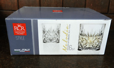 RCR Italian Crystal - Boxed Set of Six Melodia Design Whisky Glasses - BNIB