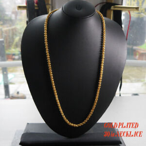 22ct Long gold plated chain necklace  real looking  Asian ethnic jewellery