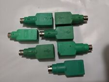 Lot of 7 green 6 pin to USB adapter connector for PS/2