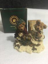 Boyds Bears Resin #2240 Edmond & Bailey...Gathering Holly 1994