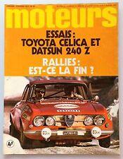 MOTEURS N°94 (JANVIER-FEVRIER 1972) TOYOTA CELICA , DATSUN 240 Z , FERRARI 312PB