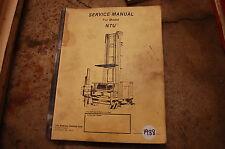 Yale Modello Ntu Carrello Elevatore Servizio Manuale di Riparazione 1988 Negozio