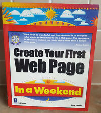 Create Your First Web Page In A Weekend Book + CD