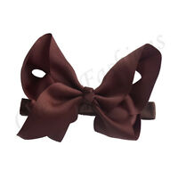 """6"""" Large Bow Hair Headband inch knot Baby Girls Ribbon Bows Kids Accessories"""