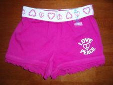 "Toddler Girls Bright Pink ""Love and Peace"" Shorts    Size 24 Months   NWT!"