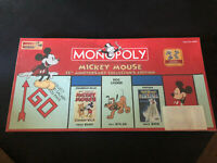 Monopoly Mickey Mouse 75th Anniversary Collector's Edition Disney Sealed New